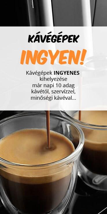 ingyen kávégép bérlés
